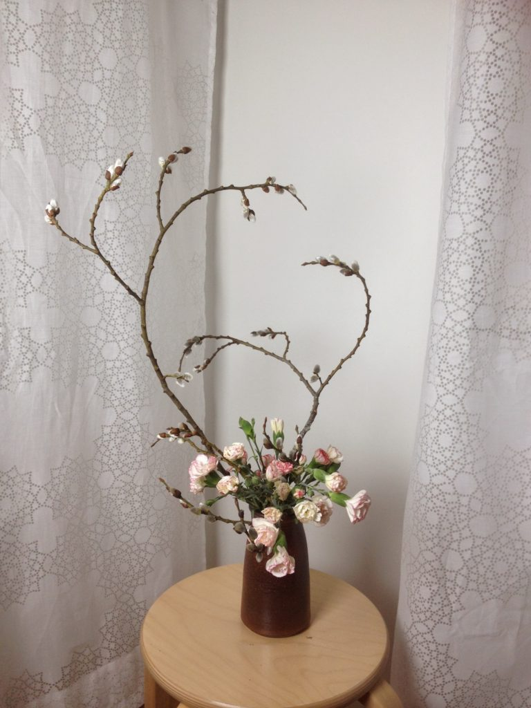 Willow catkins and carnations