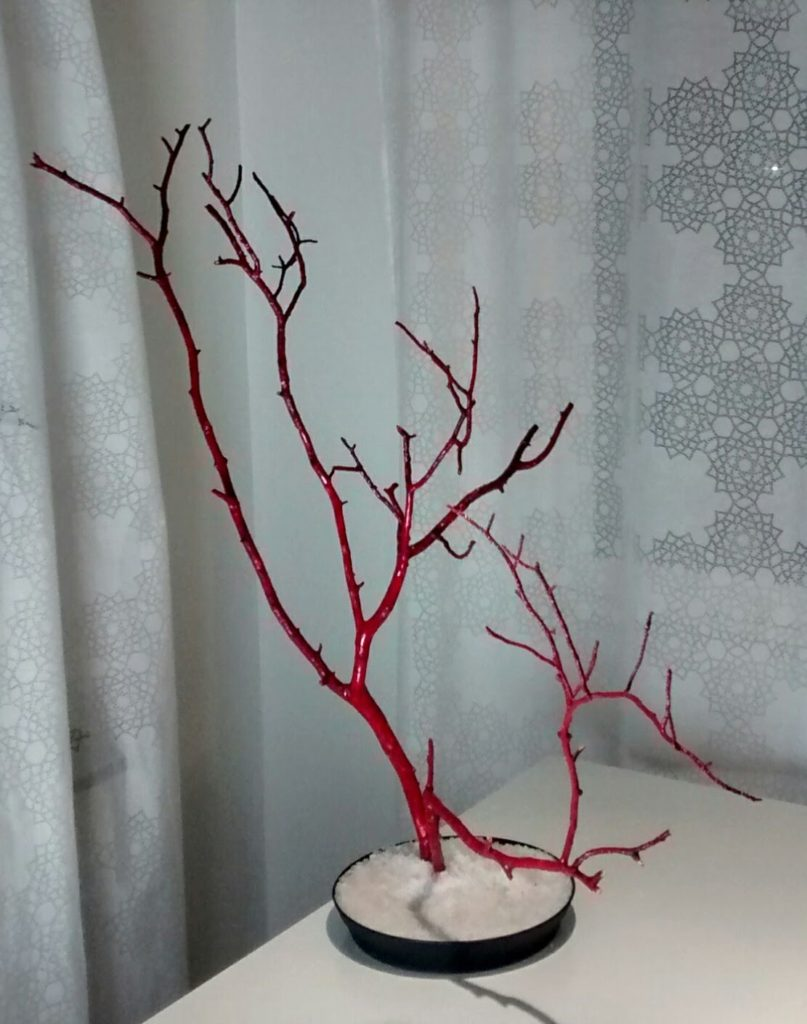 Red twigs and salt